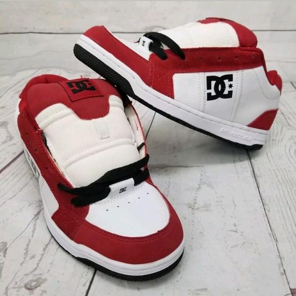 Dc Shoe Hinge Red White Skateboarding